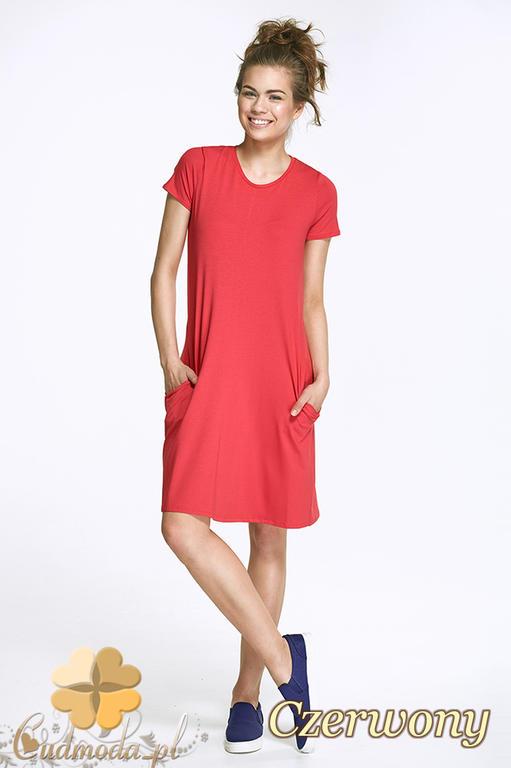 5316b52ea4 CM2422 Elegancka wieczorowa sukienka mini - czerwona w sklepie internetowym  Cudmoda. Powiększ zdjęcie
