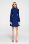 CM2680 Stylowa sukienka z długim rękawem - chabrowa w sklepie internetowym Cudmoda