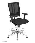 Krzesło pracownicze @-Motion R18K steel33 chrome Ring Base Nowy Styl w sklepie internetowym Modne Krzesła