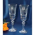 Ślubne kieliszki do szampana z grawerem w sklepie internetowym Emka
