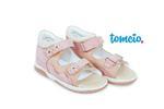 Sandały profilaktyczne Memo Temida kolor różowo-beżowy w sklepie internetowym tomcio.pl