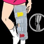 Dziecięca orteza opaskowa kończyny dolnej - tutor Orteza unieruchamiająca kończynę dolną w sklepie internetowym Fizjotrade