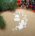 Dekor z aniołkiem 6 sztuk tektura do kartek świątecznych w sklepie internetowym Pamario.pl