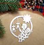 Dekor z aniołkiem 10 sztuk tektura do kartek świątecznych w sklepie internetowym Pamario.pl
