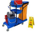 Zestaw do sprzątania z wózkiem do mycia podłóg Wózek do sprzątania, Wózki do sprzątania w sklepie internetowym esilver.com.pl