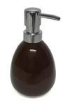Dozownik na mydło w płynie ARTE brązowy Dozownik stojący do mydła w płynie, szamponu, żelu pod prysznic, Dozowniki łazienkowe w sklepie internetowym esilver.com.pl