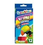 Kredki Szkolne BAMBINO o przekroju trójkątnym, 12 kolorów w sklepie internetowym Agena24