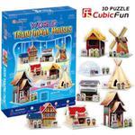 Puzzle 3D Tradycyjne Domki - Cubic Fun w sklepie internetowym Edukraina.pl