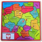 Drewniana Mapa Polski - Brimarex w sklepie internetowym Edukraina.pl