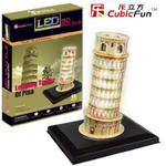 Puzzle 3D Krzywa Wieża w Pizie z oświetleniem w sklepie internetowym Edukraina.pl