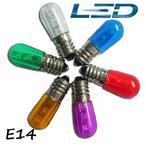 E14 12V /14V LED 0.25W Fi.16x45 DC/AC fioletowa Żarówka kolorowa - foletowy LED E14 12V-14V 0,25W w sklepie internetowym Interlumen.com