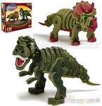 Bloco - zestaw 2 dinozaury klocki puzzle konstrukcyjne 3D w sklepie internetowym DlaDzieciaczka.pl