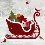 ŚWIĄTECZNE SERWETKI PAPIEROWE - Sanie Świętego Mikołaja w sklepie internetowym Przestrzen.com.pl