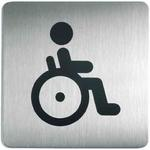 Oznaczenie toalet metalowe kwadratowe - WC dla niepełnosprawnych w sklepie internetowym OLE.PL