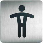Oznaczenie toalet metalowe kwadratowe - WC MĘSKI w sklepie internetowym OLE.PL