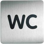 Oznaczenie toalet metalowe kwadratowe - WC w sklepie internetowym OLE.PL