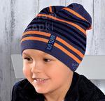 Czapka Team rozm. 53-56 cm - jeans+pomarańcz || jeans pomarańcz w sklepie internetowym Kocham Czapki