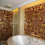 Mozaika szklana Damasco Rosso Oro złota+czerwona w sklepie internetowym Supermozaika.pl