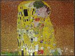 Obraz z mozaiki szklanej Pocałunek (obraz Gustava Klimta) w sklepie internetowym Supermozaika.pl