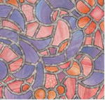 Folia witrażowa reims blue pink 10292/10381/10383 w sklepie internetowym Profilms