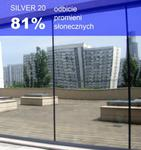 Folia okienna refleksyjna Silver 20 zewnętrzna w sklepie internetowym Profilms
