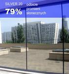 Folia okienna refleksyjna Silver 20 wewnętrzna w sklepie internetowym Profilms