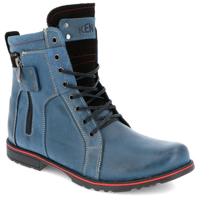 7b7d8d9ab2c10 KENT 237 GRANATOWE - Męskie buty zimowe skóra - Granatowy w sklepie  internetowym Tymoteo.pl. Powiększ zdjęcie