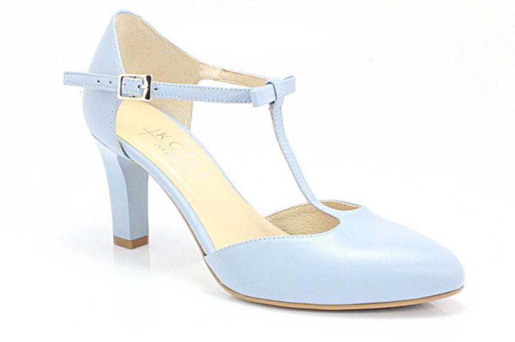 6c157c9e7a8ab KOTYL 889 NIEBIESKIE - Ślubne, taneczne, skóra - Niebieski w sklepie  internetowym Tymoteo. Powiększ zdjęcie