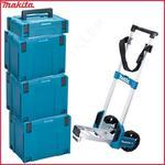 Zestaw 3 walizki systemowe MAKPAC MAKITA 821552-6 TYP 4 + 1 walizka systemowa 821549-5 TYP 1 + wózek transportowy TR00000001 w sklepie internetowym Makita Sklep