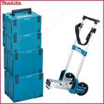 Zestaw 2 walizki systemowe MAKPAC MAKITA 821552-6 TYP 4 + 2 walizka systemowa 821551-8 TYP 3 + wózek transportowy TR00000001 w sklepie internetowym Makita Sklep