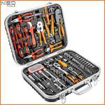 NEO TOOLS 01-310 walizka elektryka 108 sztuk w walizce (zestaw akcesoriów narzędzi akcesoria walizka CrV CrMo S2 bity szczypce ściągacze izolacji) w sklepie internetowym Makita Sklep