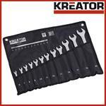 KREATOR KRT500012 Zestaw Kluczy Płasko-oczkowych 12 elem. w etui 6-22mm (komplet) w sklepie internetowym Makita Sklep