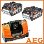 AEG 2x L1840R + BL1218 Akumulatory + Ładowarka PRO18V Li-Ion 18V 4,0Ah Pakiet 2 sztuk akumulatorów i ładowarki w sklepie internetowym Makita Sklep