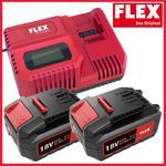 FLEX CA10.8/18.0 + 2x AP18.0/5.0 Szybka Ładowarka + Dwa Akumulatory 18V 5.0Ah Li-Ion (417.882 445.894 Akumulator) w sklepie internetowym Makita Sklep