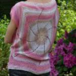 Różowe dwa koła bluzka ręcznie robiona w sklepie internetowym Kuferart.pl