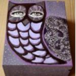 Pudełko sowa fioletowa w sklepie internetowym Kuferart.pl