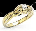 Pierścionek z żółtego złota z cyrkoniami BP-73Z-C - Żółte \ Cyrkonia Swarovski White w sklepie internetowym Wec.com.pl