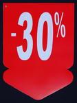 Tablica wyprzedażowa - strzałka ,,-30%'' w sklepie internetowym marikus.pl