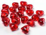 """Kryształowe """"serca"""", 2,1cm, czerwony, 30szt w sklepie internetowym Dorado"""