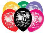 """Balony 14"""" Metalik Mix z nadrukiem """"2011"""", 50 szt. w sklepie internetowym Dorado"""