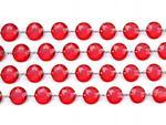 Girlanda kryształowa, czerwony, dł:1 m, 1szt. w sklepie internetowym Dorado