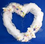 Serce z kwiatami i organzą, wys. 50cm w sklepie internetowym Dorado