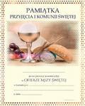 Dyplom - pamiątka przyjęcia I Komunii Świętej w sklepie internetowym Księgarnia Dobrego Pasterza