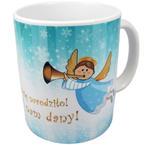 Kubek Świąteczny DZIECIĘ SIĘ NAM NARODZIŁO! SYN ZOSTAŁ NAM DANY! w sklepie internetowym Księgarnia Dobrego Pasterza