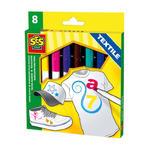 SES Creative - zabawki kreatywne, zabawki plastyczne, zestawy do malowania i modelowania, zabawki edukacyjne - Tekstylne markery do malowania - SE 00269 w sklepie internetowym Educco.pl