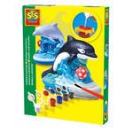 SES Creative - zabawki kreatywne, zabawki plastyczne, zestawy do malowania i modelowania, zabawki edukacyjne - Zestaw do odlewu z gipsu - delfin - SE 01274 w sklepie internetowym Educco.pl