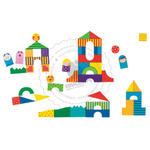 """GOKI - Puzzle - klocki """"Na farmie"""" - klocki edukacyjne - 58659 w sklepie internetowym Educco.pl"""