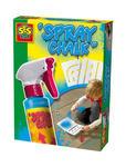 SES Creative - zabawki kreatywne, zabawki plastyczne, zestawy do malowania i modelowania, zabawki edukacyjne - Spray niebieski do malowania po chodniku +szablony - 02224 w sklepie internetowym Educco.pl