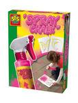 SES Creative - zabawki kreatywne, zabawki plastyczne, zestawy do malowania i modelowania, zabawki edukacyjne - Spray różowy do malowania po chodniku +szablony - 02228 w sklepie internetowym Educco.pl