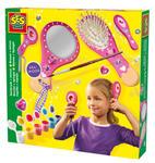 SES Creative - zabawki kreatywne, zabawki plastyczne, zestawy do malowania i modelowania, zabawki edukacyjne - Szczotka do włosów i lusterko - zestaw kreatywny - 14987 w sklepie internetowym Educco.pl